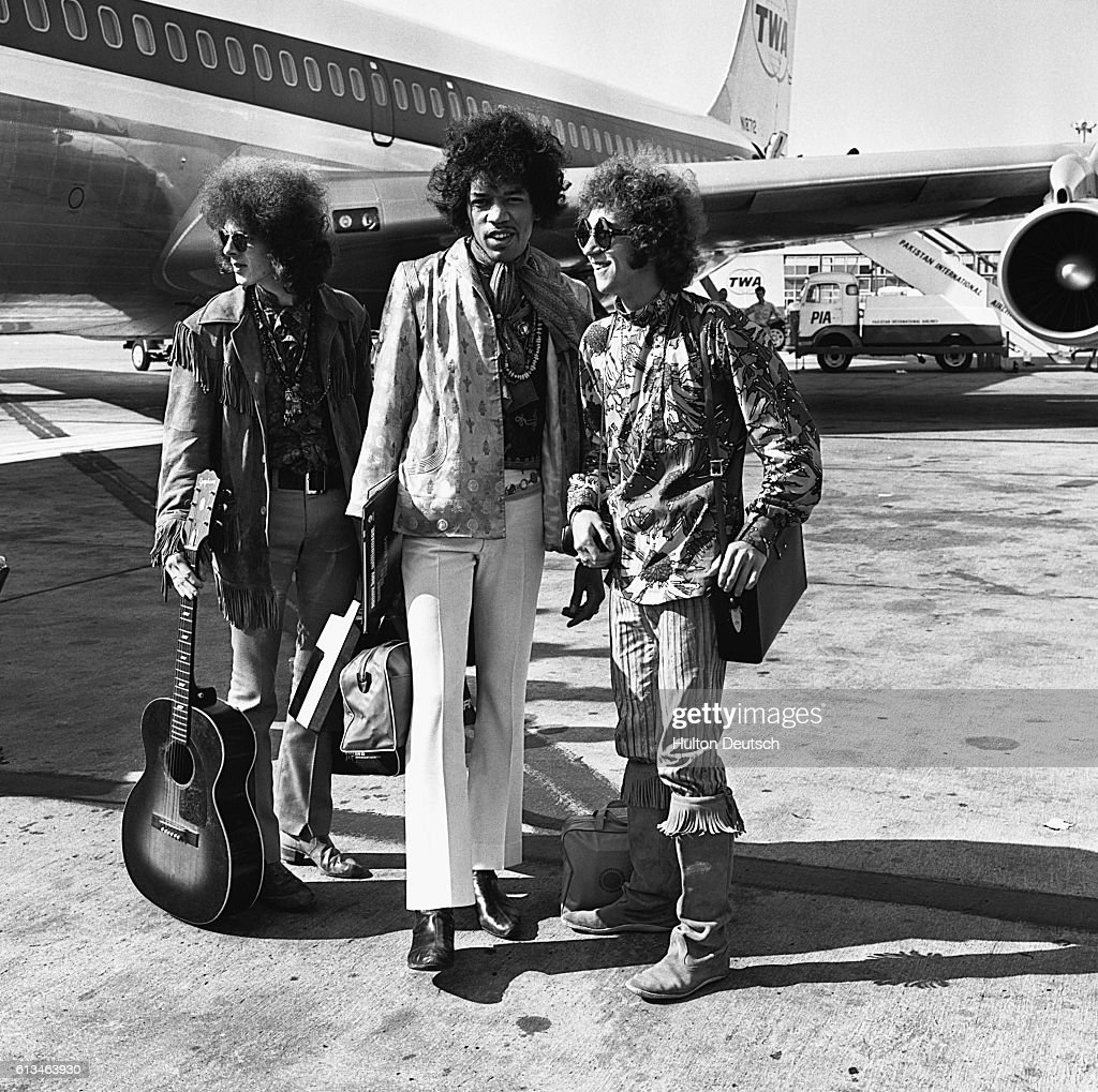 The Jimmy Hendrix Experience at London Airport.