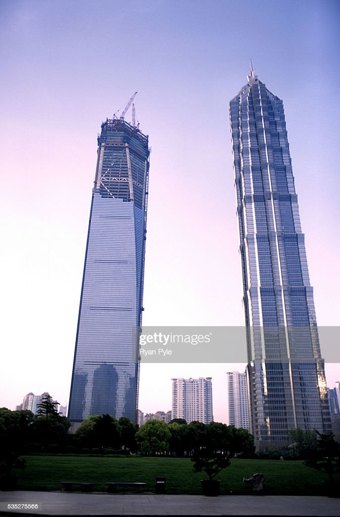 The Jin Mao Tower And The Shanghai World Financial Center
