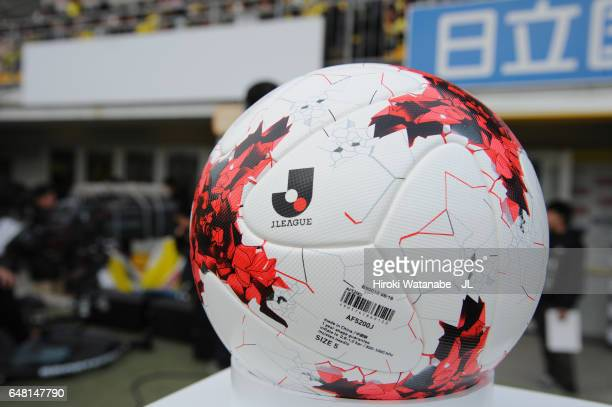 The JLeague matchball is seen prior to the JLeague J1 match between Kashiwa Reysol and Gamba Osaka at Hitachi Kashiwa Soccer Stadium on March 5 2017...