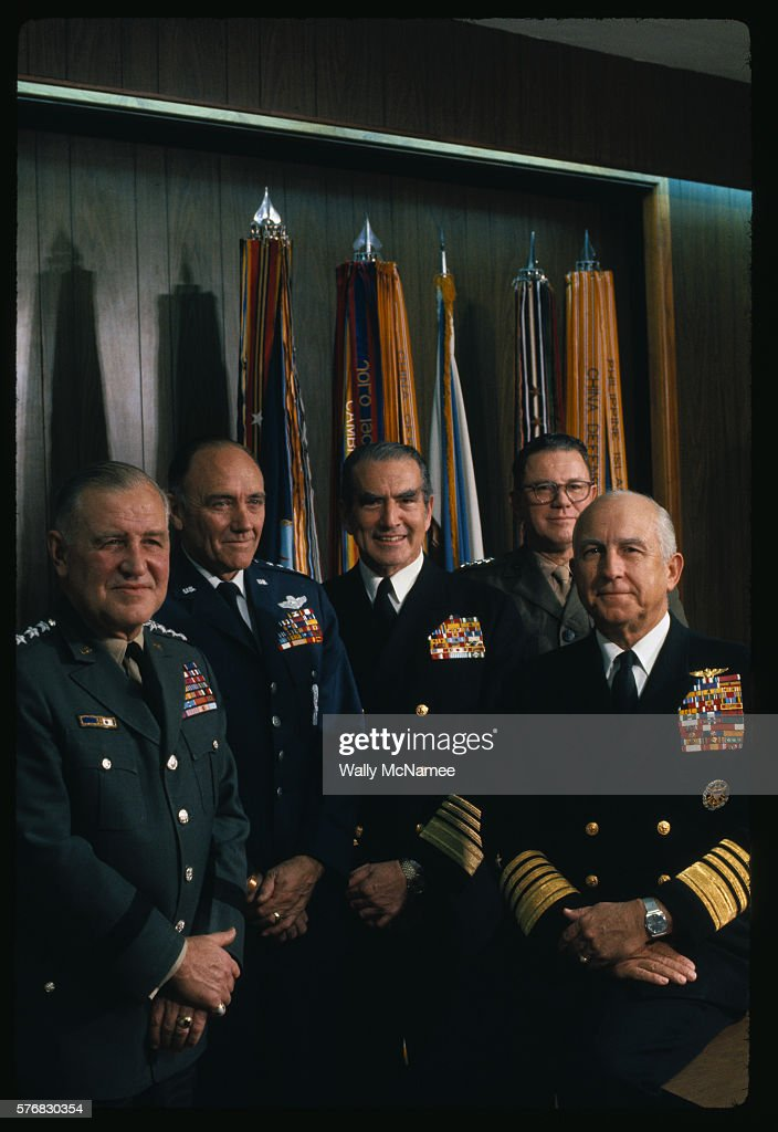 The Joint Chiefs of Staff in November 1972 from left General Creighton W Abrams US Army General John D Ryan US Air Force Admiral Elmo R Zumwalt Jr US...