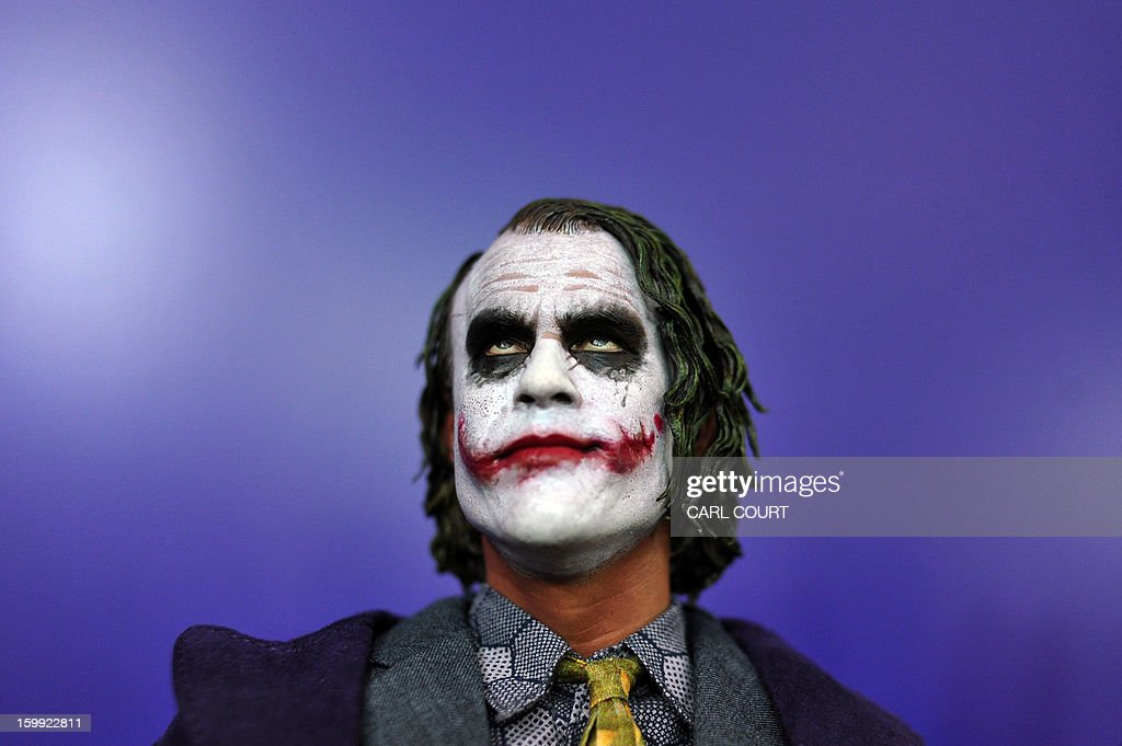 'The Joker' toy is displayed at the London Toy Fair in Olympia central London on January 23 2013 AFP PHOTO / CARL COURT