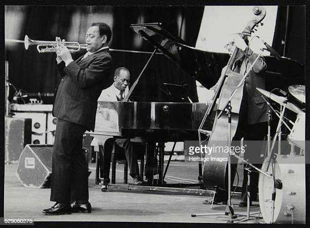 The Jonah Jones Quartet and Hank Jones on stage at the Newport Jazz Festival Ayresome Park Middlesbrough July 1978 Personnel visible are Jonah Jones...