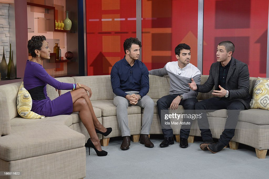 AMERICA - The Jonas Brothers officially announced they were splitting upduring a GOOD MORNING AMERICA' exclusive, 10/30/13, airing on the ABC Television Network. ROBIN