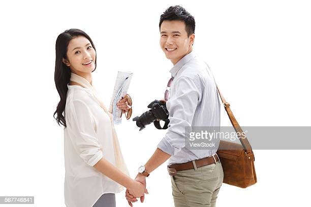 The joy of the young lovers travel