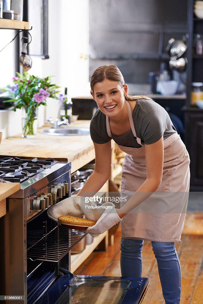 The joys of baking : Stock Photo