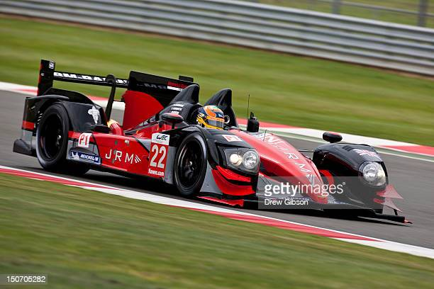 The JRM HPD ARX 03a Honda driven by David Brabham of England Karun Chandhok of India and Peter Dumbreck of Scotland during the 2012 FIA World...