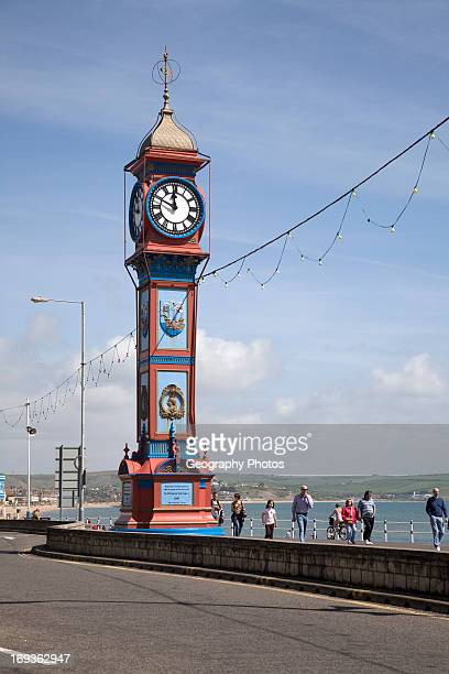 The Jubilee Clock tower Weymouth Dorset England The clock tower was built in 1887 marking the Golden Jubilee of reign by Queen Victoria The Jubilee...
