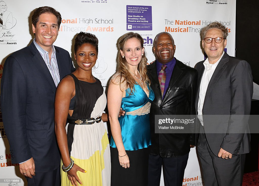 Nick Scanndalios, Montego Glover, Rachel Hoffman, Kent Gash and Bernie Telsey attend the 5th Annual National High School Musical Theater Awards at Minskoff Theatre on July 1, 2013 in New York City.