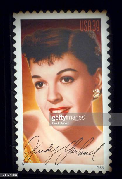 The Judy Garland commemorative postage stamp is unveiled at the US Postal Service honors Judy Garland as ''Legend Of Hollywood'' at the Zankel Hall...