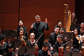 The Juilliard Orchestra conducted by Matthias Pintscher performing Commencement Concert at Alice Tully Hall on Thursday night May 19 2016 They...