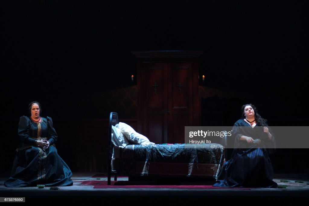 The Juilliard School presents Janacek's 'Katya Kabanova' at Peter Jay Sharp Theater on Wednesday night, April 19, 2017. It's directed by Stephen Wadsworth. This image: Sara Couden, left, and Felicia Moore.