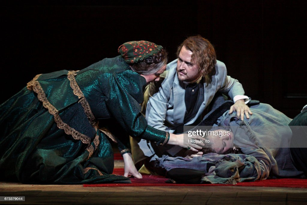 The Juilliard School presents Janacek's 'Katya Kabanova' at Peter Jay Sharp Theater on Wednesday night, April 19, 2017. It's directed by Stephen Wadsworth. This image: From left, Sara Couden, Miles Mykkanen and Felicia Moore.