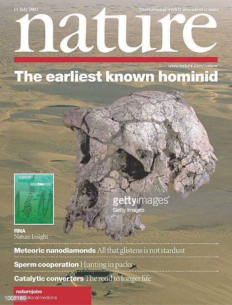 The July 11 2002 cover of the journal Nature shows a skull believed to be the earliest member of the human family The skull which is thought to date...