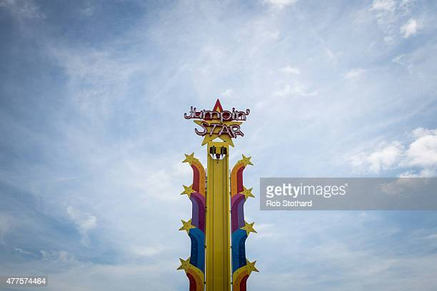 The Jumping Tower ride at Dreamland amusement park on June 18 2015 in Margate England Dreamland is considered to be the oldestsurviving amusement...