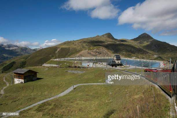 The Jungfrau railway and Lake