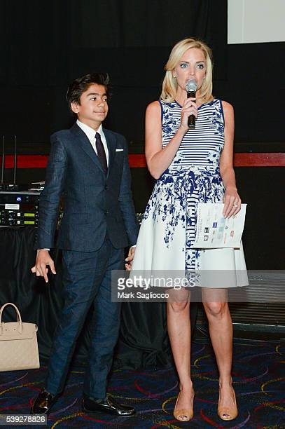 'The Jungle Book' Actor Neel Sethi and GIFF Founder Ginger Stickel attend the 2016 Greenwich International Film Festival Day 2 on June 10 2016 in...