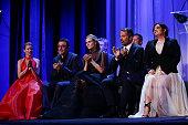 The Jury Elizabeth Banks Nuri Bilge Ceylan Diane Kruger Francesco Munzi and Lynne Ramsay attend the closing ceremony during the 72nd Venice Film...