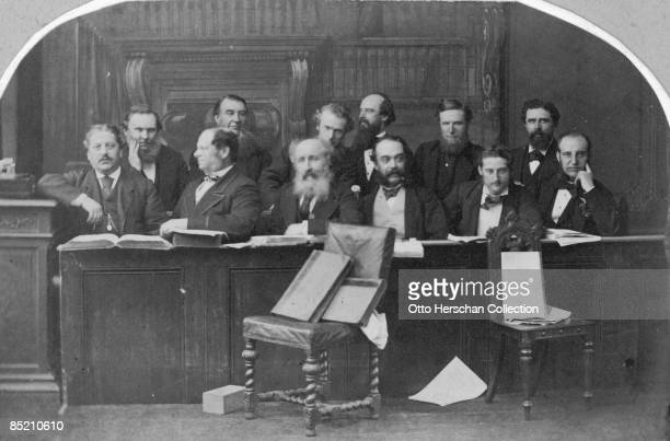 The jury in the Tichborne Trial circa 1873 Having tried unsuccessfully to prove himself the missing heir Sir Roger Tichborne Arthur Orton was tried...