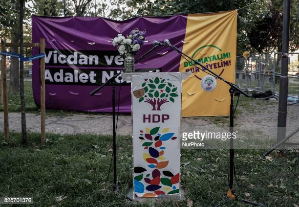 The justice vigil that the People's Democratic Party launched in Diyarbakir last week is continuing in Istanbul Turkey on 1st August 2017 The justice...