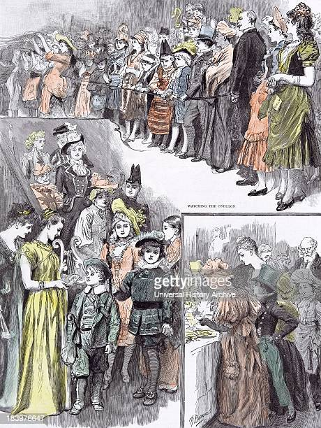 The Juvenile Fancy Dress Ball In 1891 Watching The Cotillon After Supper Coming Down The Stairs Supper Time Happiness Joy Straw Hat Happiness Joy...