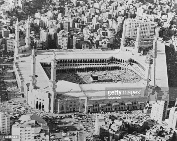The Kaaba in the centre of the Masjid alHaram in Mecca Saudi Arabia circa 1979 Every year millions of Muslims complete a hajj or pilgrimage to this...