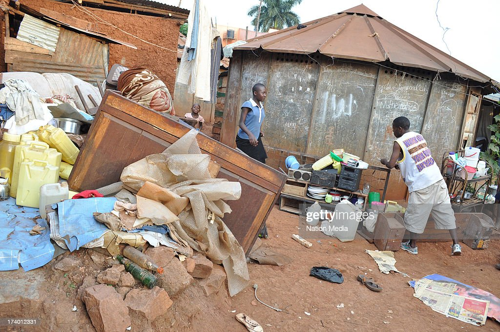 KAMPALA, UGANDA (Not for sale to The Star (Kenya), Capital FM, The People, Citizen TV, Kenya Broadcasting Corporation) The Kabalagala police barracks in Kampala, Uganda. Police posts and station in Uganda are in a very deplorable state.