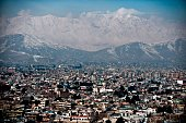 The Kabul skyline is seen on February 16 on EideMiladunNabi the birthday of Prophet Muhammad The Prophet Mohammed was born in the Saudi Arabian city...