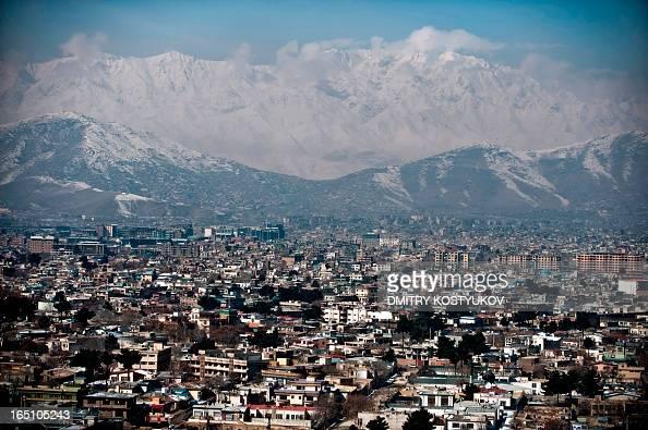 The Kabul skyline is seen on February 16 on EideMiladunNabi the birthday of Prophet Muhammad The Prophet Mohammed was born in the Saudi Arabian city...
