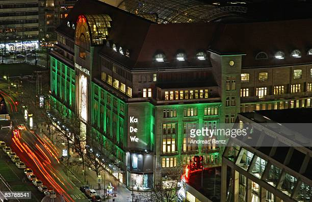 The KaDeWe department store is seen in the evening on November 22 2008 in Berlin Germany