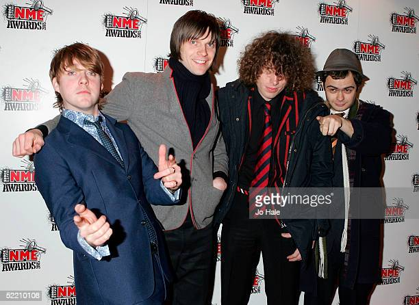 The Kaiser Chiefs arrive at The Shockwaves NME Awards 2005 at Hammersmith Palais on February 17 2005 in London The annual music awards sees winners...