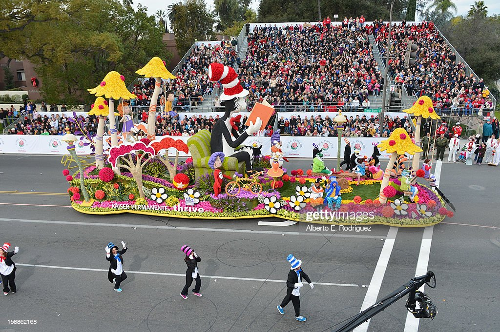 The Kaiser Permanente float participates in the 124th Tournamernt of Roses Parade on January 1, 2013 in Pasadena, California.