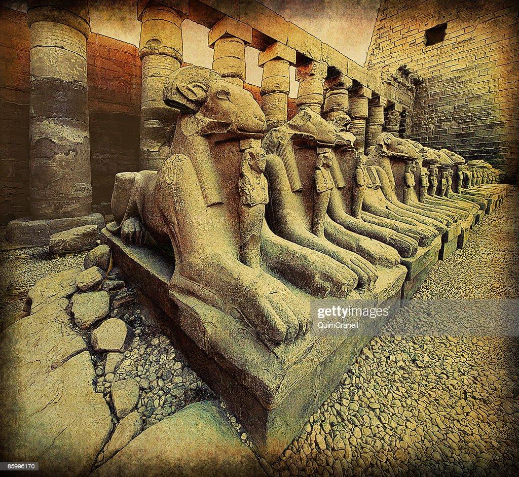 The Karnak Temple : Stock Photo