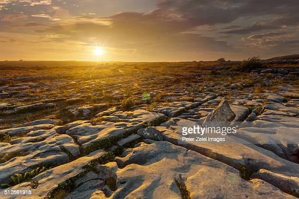 The karst rock formations at the Burren, County Clare, Ireland