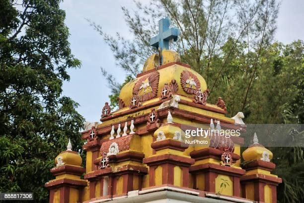 The Karuna Nilayam Church of Ceylon in Killinochchi Sri Lanka The unique style of design of the Karuna Nilayam Catholic Church mimics the traditional...