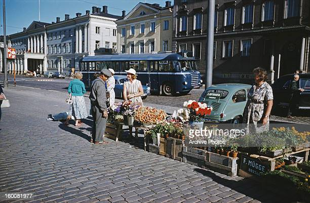 The Kauppatori or Market Square in Helsinki Finland circa 1965