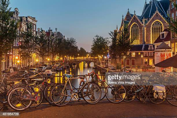 The Keizersgracht Canal, with bicycles in the fore