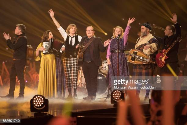 The Kelly Family during the show 'Das Internationale Schlagerfest' at Westfalenhalle on October 21 2017 in Dortmund Germany