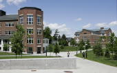 The Kemeny building left and Moore building right stand on the campus of Dartmouth College the smallest school in the Ivy League in Hanover New...