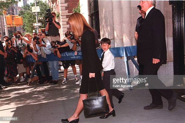 The Kennedy Family celebrates Mass at the Church of St Thomas More Caroline Kennedy son Jack and husband Edwin Schlossberg leaving apartment in New...