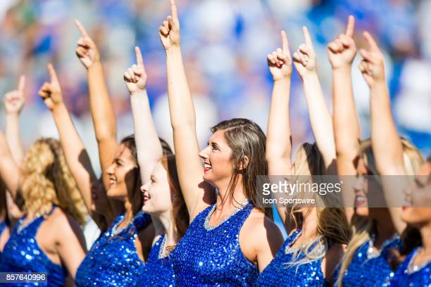 The Kentucky Dance Team performing 'My Old Kentucky Home' during a regular season college football game between the Eastern Michigan Eagles and the...