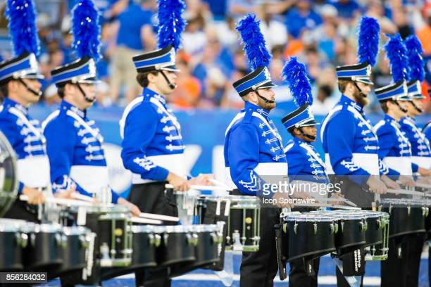 The Kentucky Marching Band gets ready to perform before a regular season college football game between the Florida Gators and the Kentucky Wildcats...
