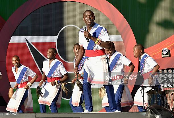 The Kenyan Boys Choir performs at the 2016 Global Citizen Festival In Central Park To End Extreme Poverty By 2030 at Central Park on September 24...