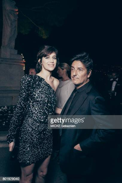the Kering Woman in motion evening organised by Kering in Cannes Charlotte Gainsbourg and Yvan Attal May 21 2017 Charlotte Gainsbourg and Yvan Attal
