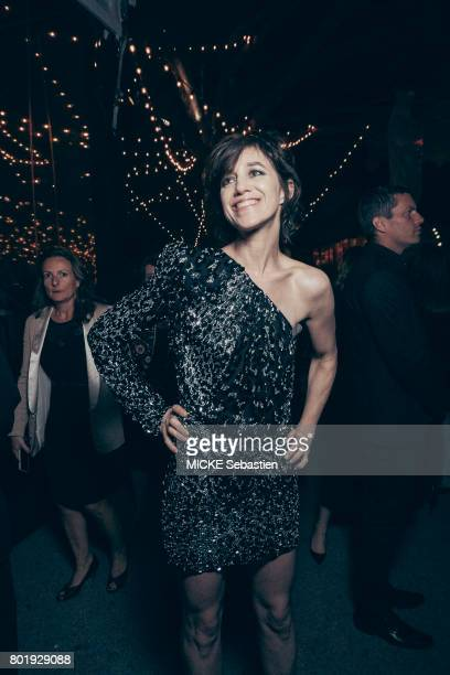 the Kering Woman in motion evening organised by Kering in Cannes Actrice Charlotte Gainsbourg wearing Saint Laurent May 21 2017 Charlotte Gainsbourg