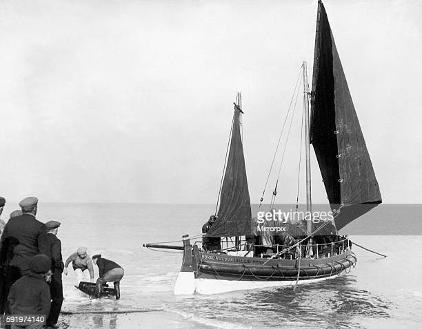 The Kessingland Lifeboat 'Hugh Taylor' out on exercise 12 March 1934