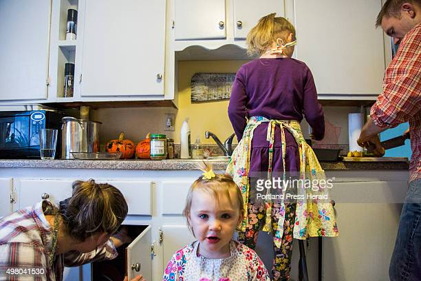 The Kessler family prepares supper at their apartment in South Portland ME on Monday October 26 2015