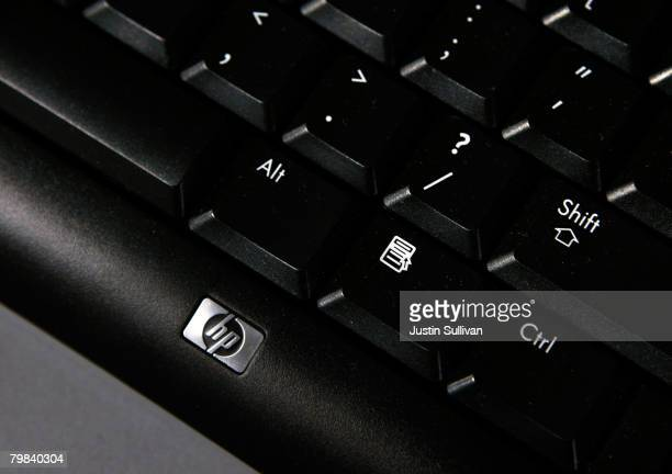 The keyboard of a HewlettPackard desktop computer is displayed at a Best Buy store February 19 2008 in San Francisco California HewlettPackard Co...