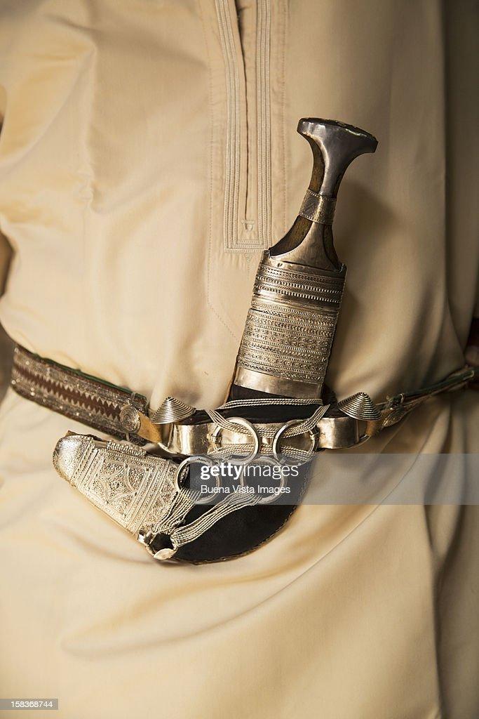 The khanjar,the traditional dagger of Oman. : Stock Photo