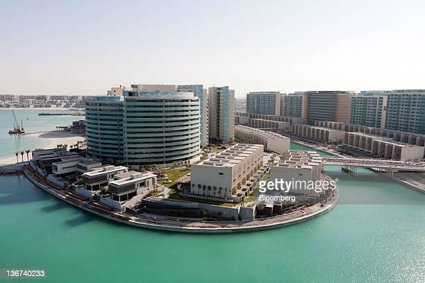 The Khor Al Raha property development is seen from the Al Bandar marina in Abu Dhabi United Arab Emirates on Tuesday Jan 10 2012 Abu Dhabi the...