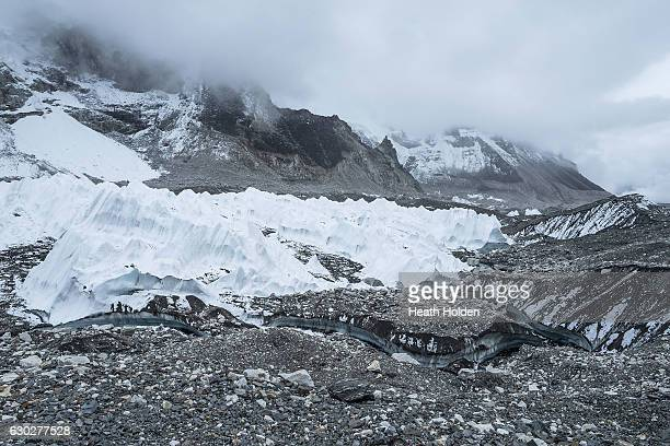 The Khumbu glacier is the worlds highest glacier and sits between Mt Everest and the LhotseNuptse ridge The Khumbu icefall is one of the most...